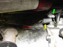 With the fan removed, you have access to remove the two electrical connectors that plug into the power steering pump.