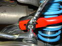 The sway bar allows three points for adjustment.