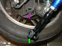 Use the supplied tube of grease to lubricate both ends of the control arm as shown here.