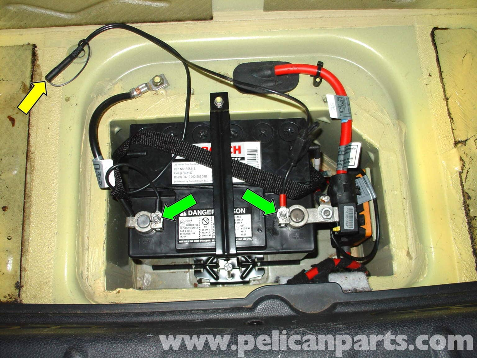 Mini Cooper Battery Replacement And Battery Tender Installation  R50  R52  R53 2001