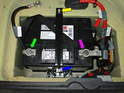 (R53 Cooper S) When removing the battery from the Cooper S, be sure to remove the negative terminal first (green arrow), then the positive (purple arrow).