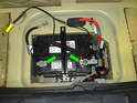 (R53 Cooper S) In thisPicture you can see the battery tender wiring attached to the battery.