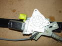 Remove the upper motor frame and take note of the mounting position of the motor.