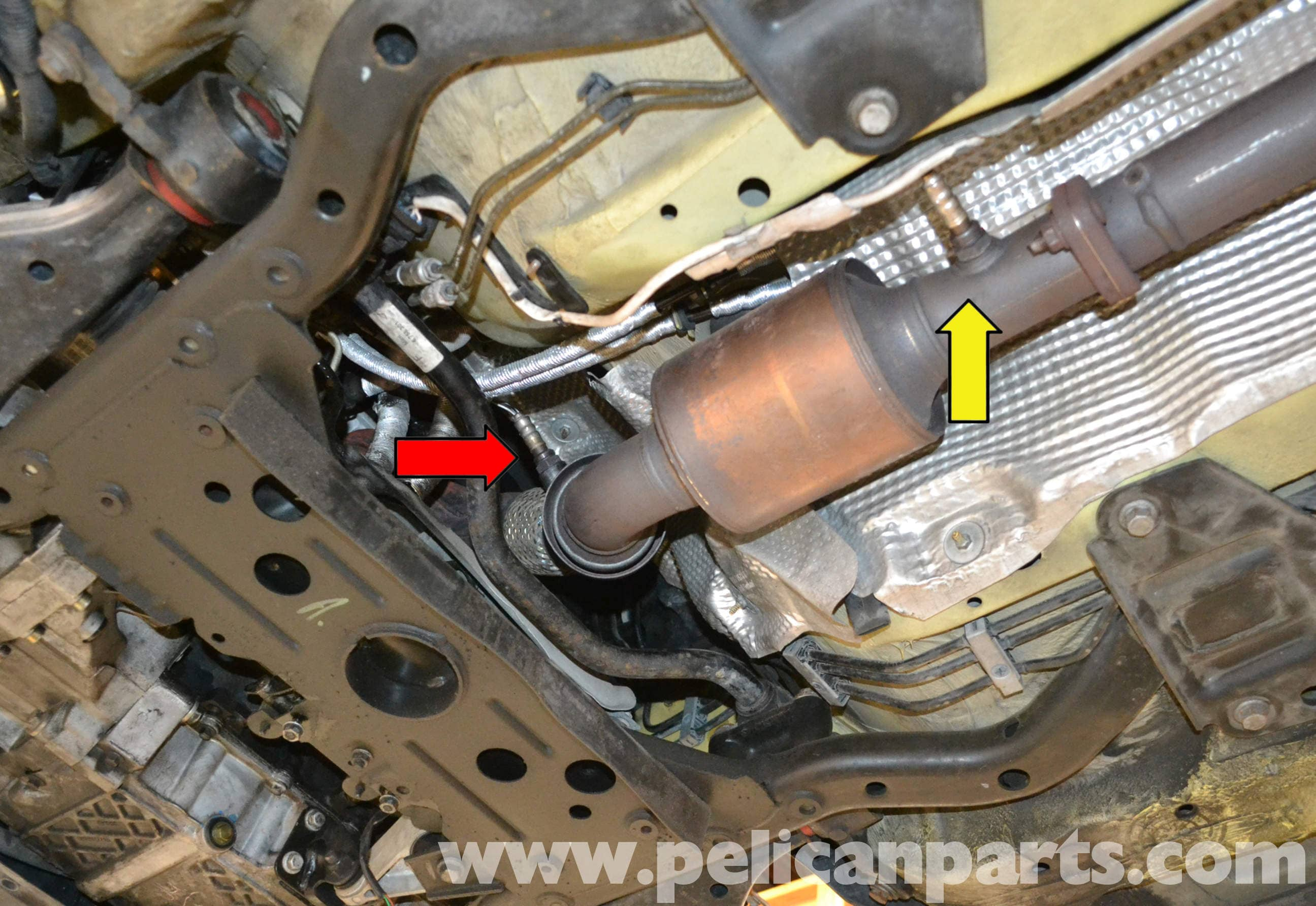 Pic on 2004 nissan altima o2 sensor location