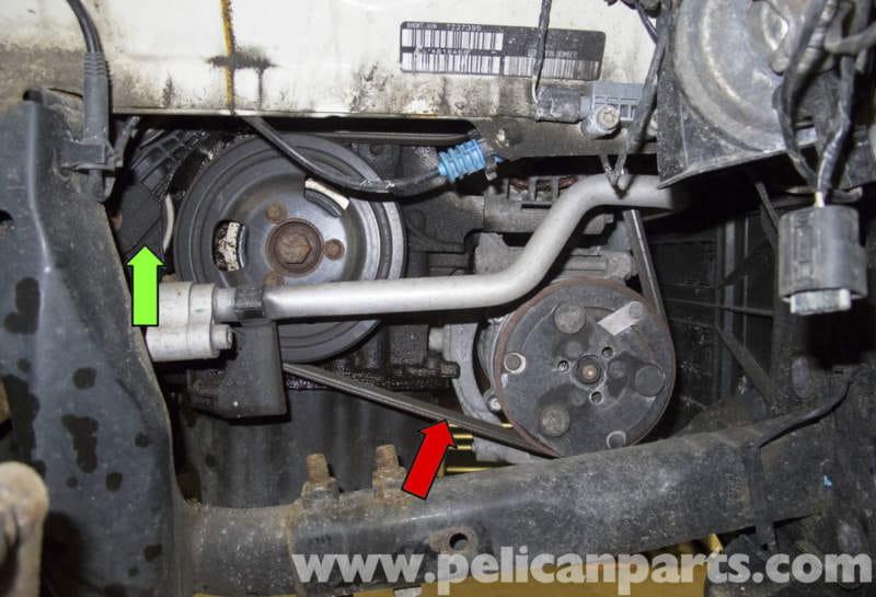 mini cooper r56 drive belt replacement 2007 2011 pelican parts rh pelicanparts com volvo n14 fan belt diagram John Deere L130 Belt Diagram