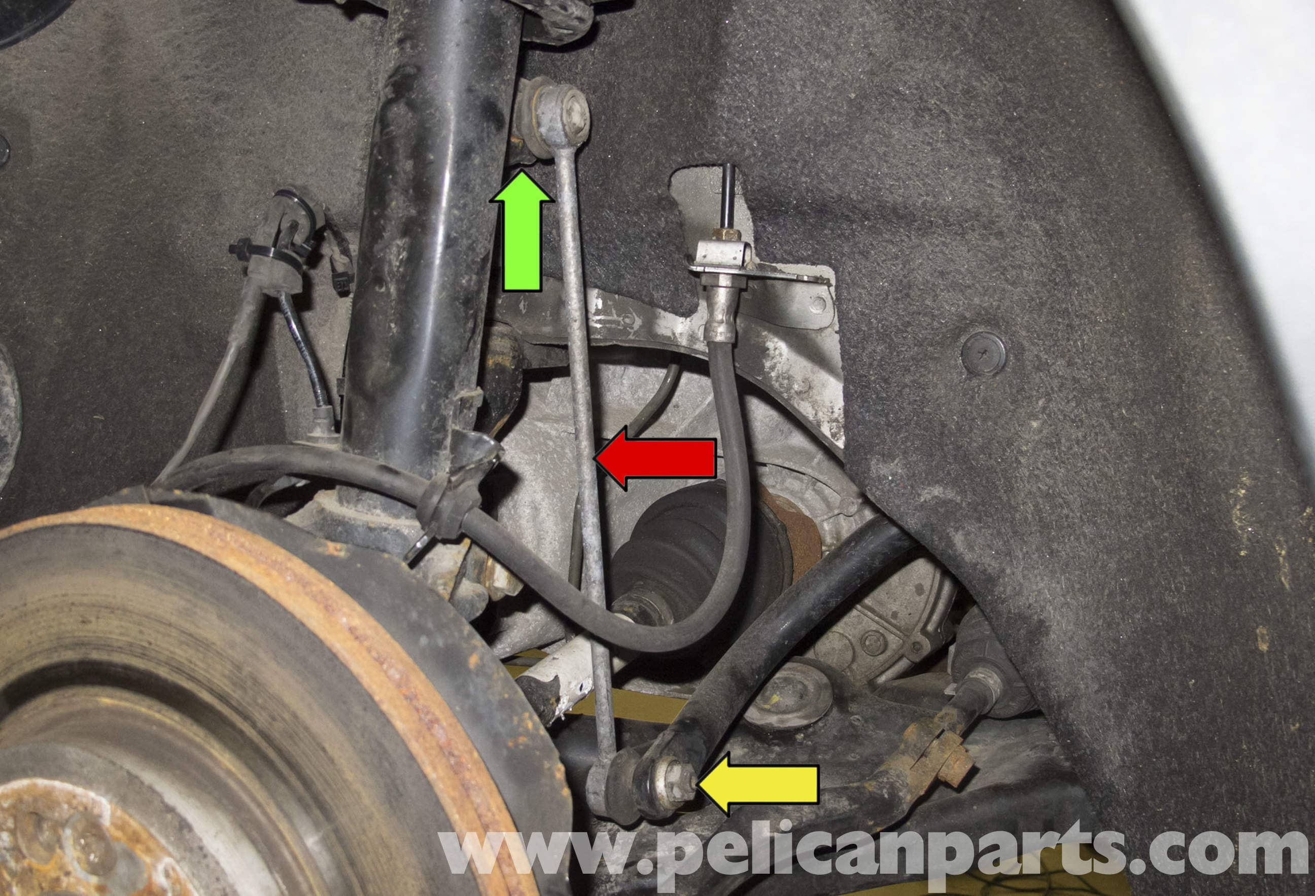 Front stabilizer strut. Causes of wear and self replacement 8
