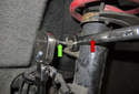 Front sway bar links: Use a 16mm socket and break the nut loose.