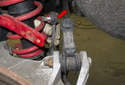 Rear sway bar links: Pull the link out of the sway bar then out of the rear swing arm to remove it.