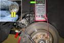 The sensor is a two-stage break pad wear sensor.