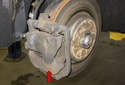 I will show you how to replace the left front caliper (red arrow).