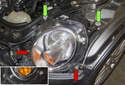Start by removing the four 10mm headlight assembly fasteners.