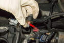 Knock Control To prevent engine damage in case of adverse conditions or poor fuel quality, knock (detonation) sensors (red arrow) are mounted on the engine crankcase.