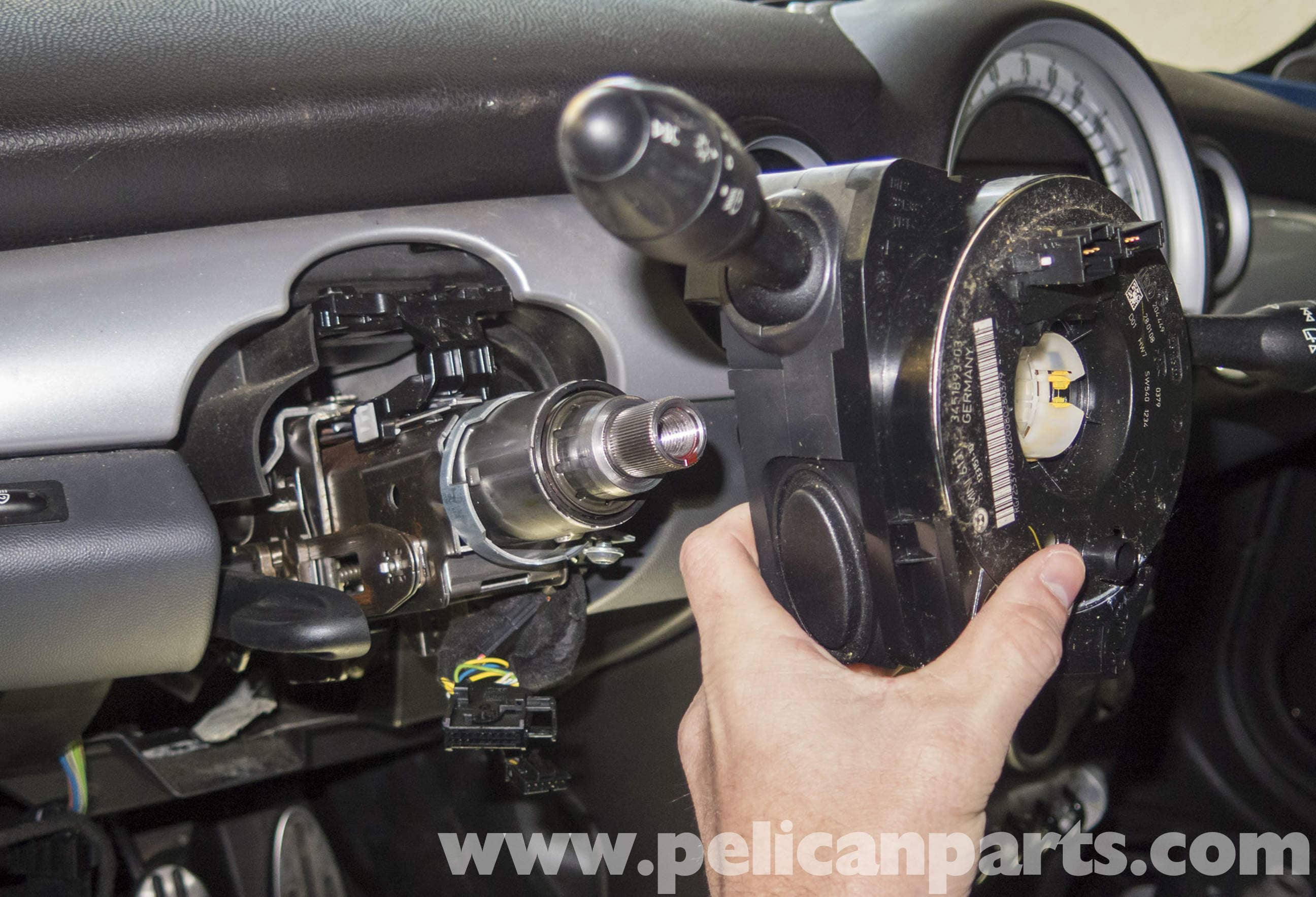 mini cooper r56 steering column switch replacement  2007