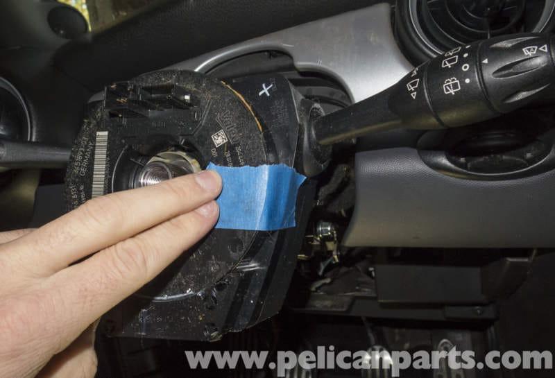mini cooper r56 steering column switch replacement 2007 2011 rh pelicanparts com 2010 Mini Cooper Fuse Diagram Mini Cooper Engine Diagram