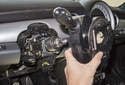 Remove the switch assembly from the steering column.