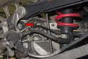 Rear sensor: The rear sensor in mounted in the rear swing arm behind the strut.