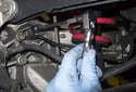 Rear sensor: Remove the 8mm fastener.