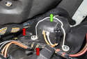 Pull the blower motor straight out of the heater housing (green arrow).