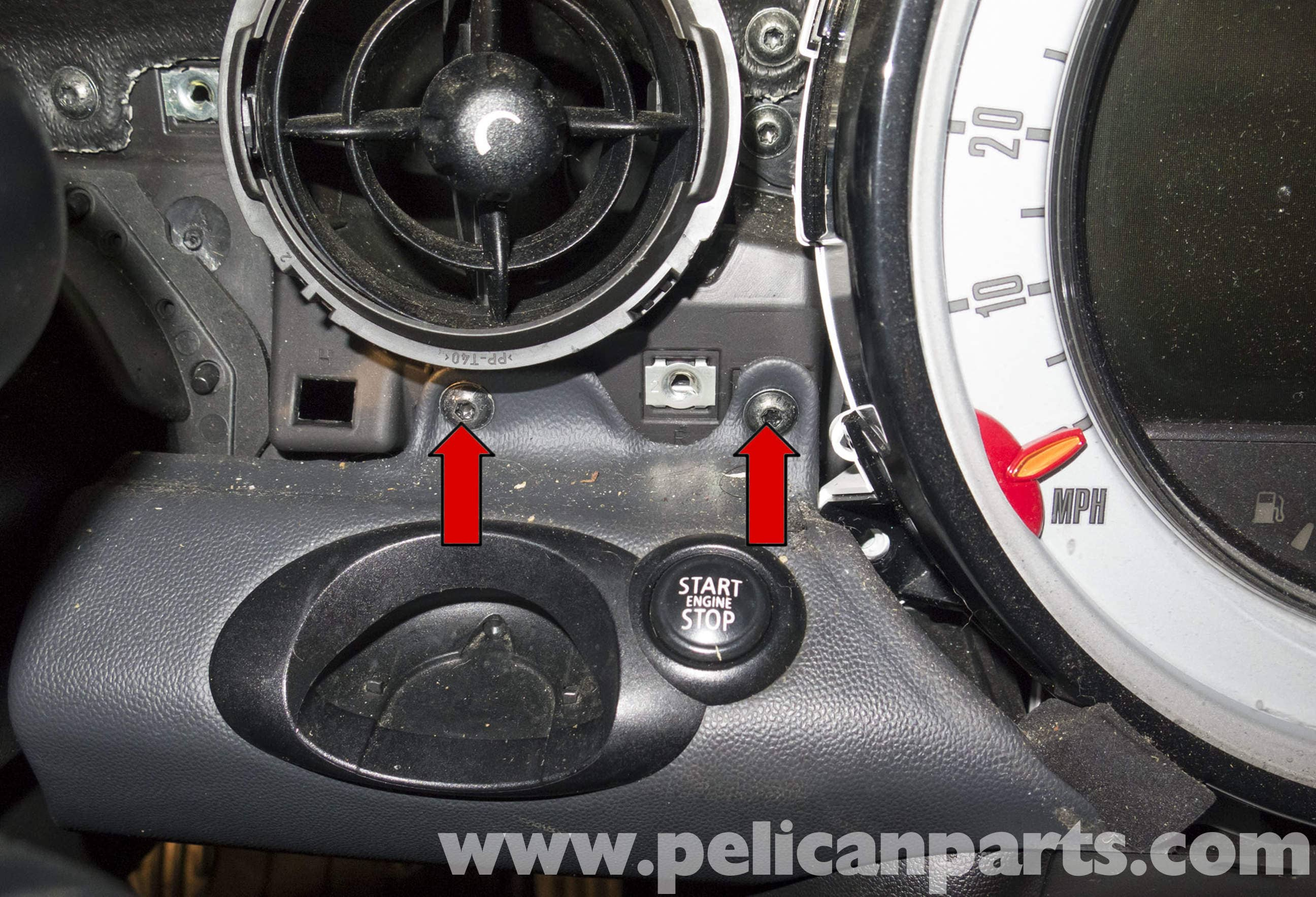 mini cooper r56 instrument cluster replacement 2007 2011 pelican rh pelicanparts com Mini Cooper Inside Car Speedometer