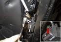 Remove the 3mm Allen screw (red arrow).