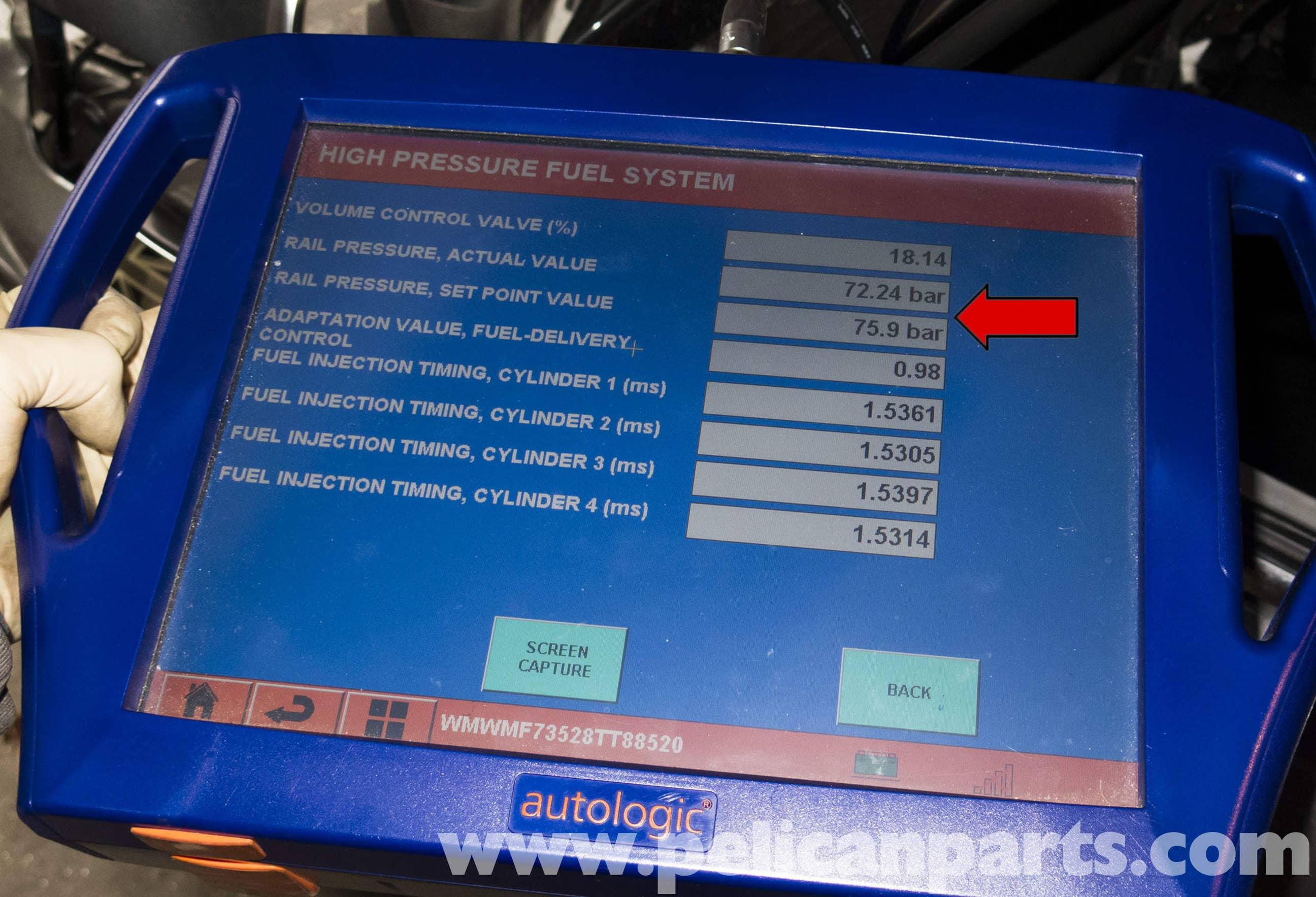 Mini Cooper R56 Fuel Pump Testing 2007 2011 Pelican Parts Diy Digital Pressure Tester Snap On Large Image Extra