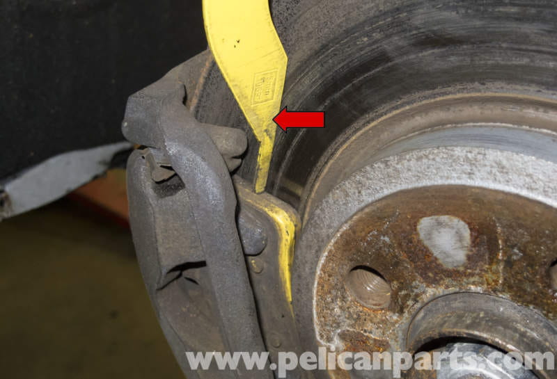 Minimum Thickness For Brake Pads : Mini cooper r brake pad and rotor specification checking