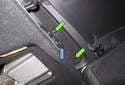 Fold the left side rear seat back forward.