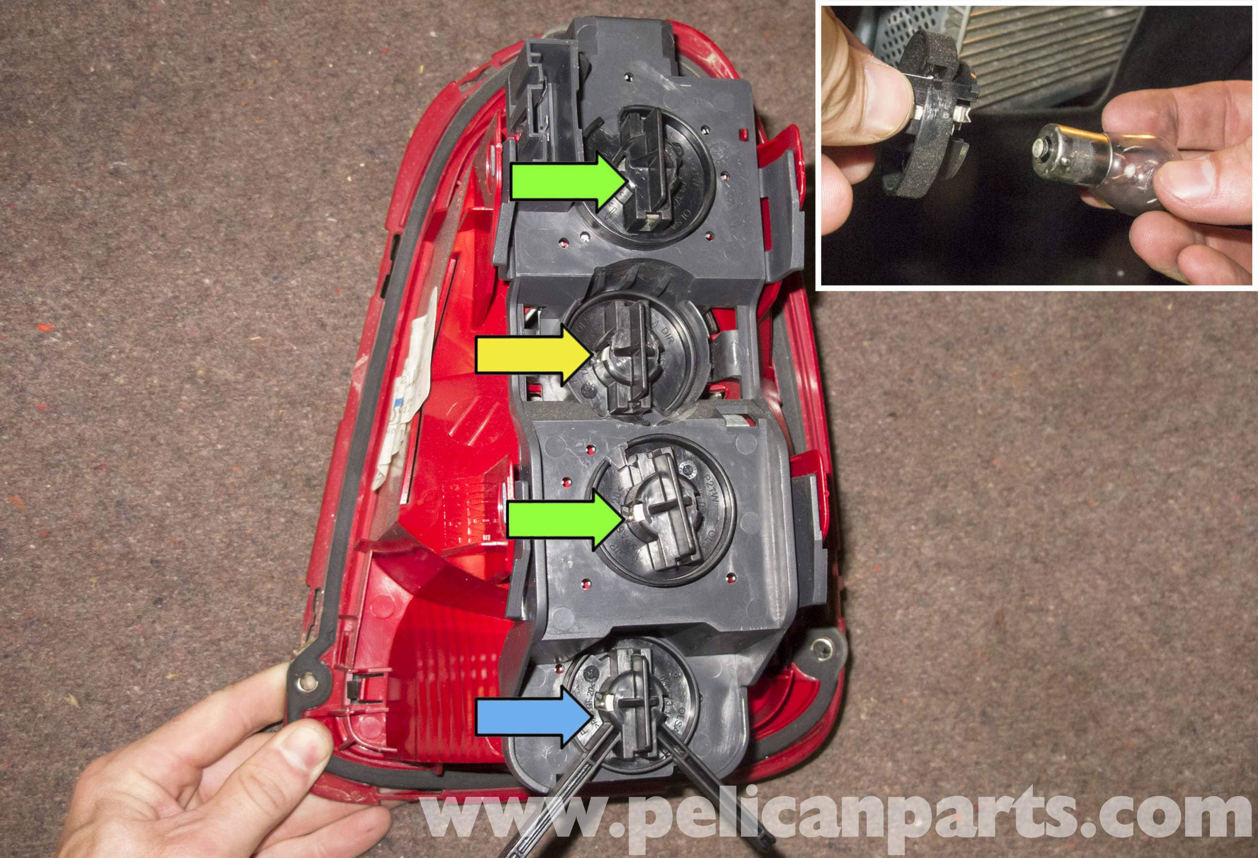 Mini Cooper R56 Taillight Replacement 2007 2011 Pelican Parts 3157 Light Socket Wiring Diagram Large Image Extra