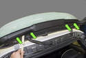Third Brake Light: To replace a bulb in your third brake light, you will have to replace the LED light strip.