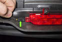 Third Brake Light: Lower the trim panel enough to access the electrical connector.