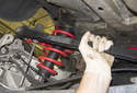 Upper control arm: Remove the control arm from the vehicle.