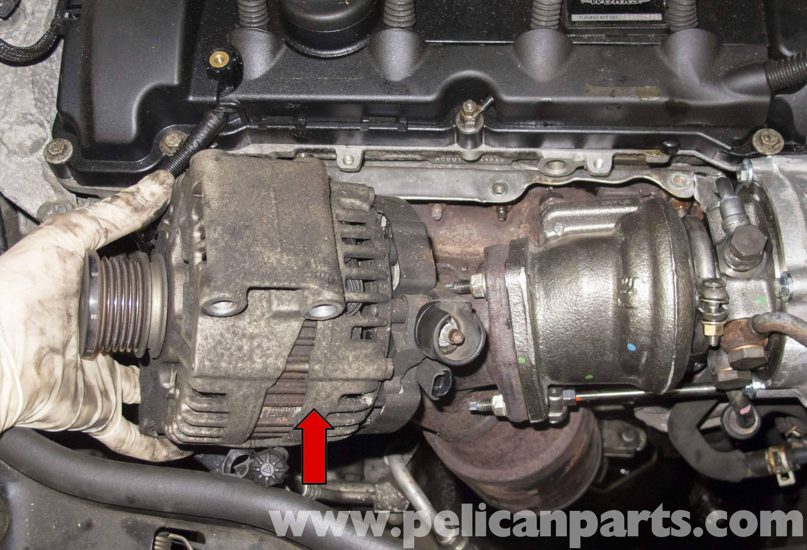 Mini Cooper R56 Turbocharged Engine Alternator Replacement