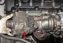 Next, remove the alternator from the engine by pulling it away and lifting it up.