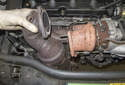 Remove the cat from the turbocharger outlet and lift it to remove it from the engine.