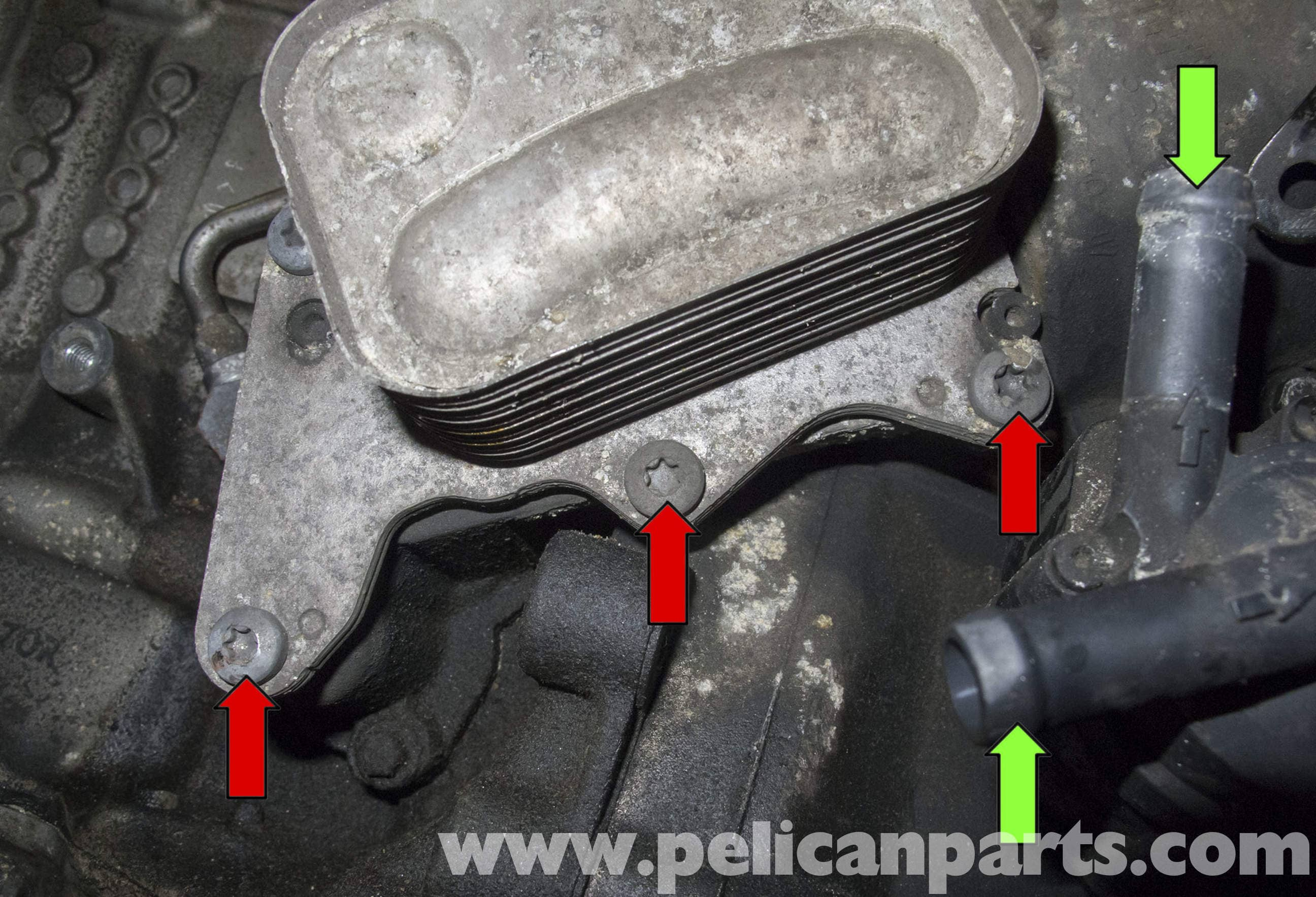 mini cooper  turbocharged engine oil cooler  filter housing replacement