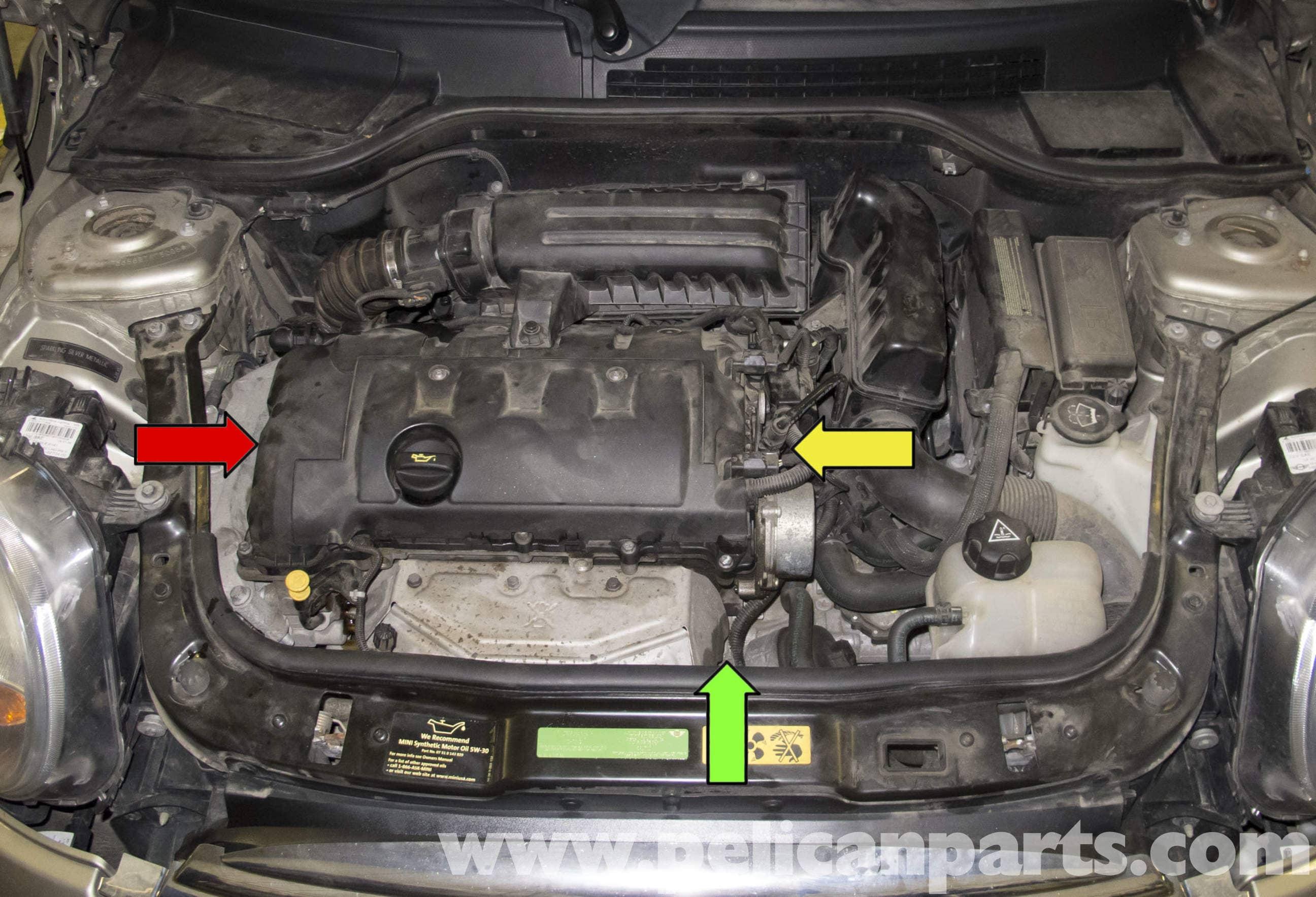 mini cooper  oil leak diagnosis   pelican parts diy maintenance article