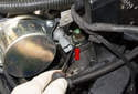 Coolant sensor: You don't have to drain the cooling system.