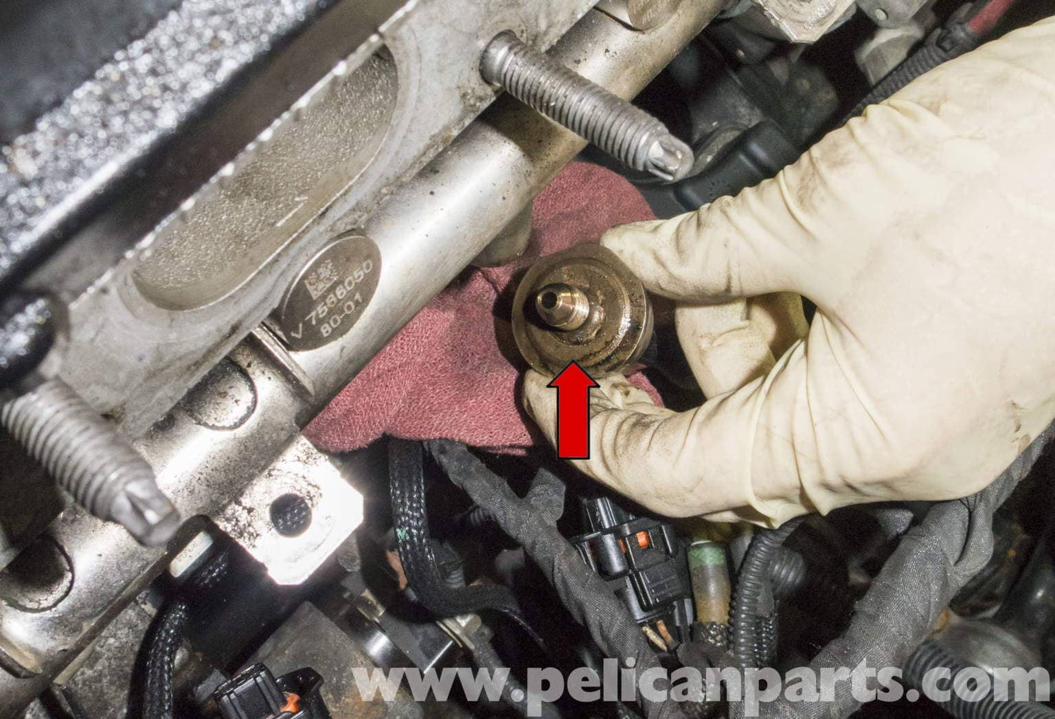 mini cooper r56 fuel rail pressure sensor replacement