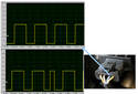 This image shows the voltage and frequency of the correction signal over different RPM ranges.