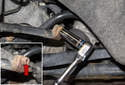 Start by loosening the connection between the inner and outer tie rod ends.