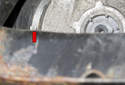 Then remove the inner clamp (red arrow).