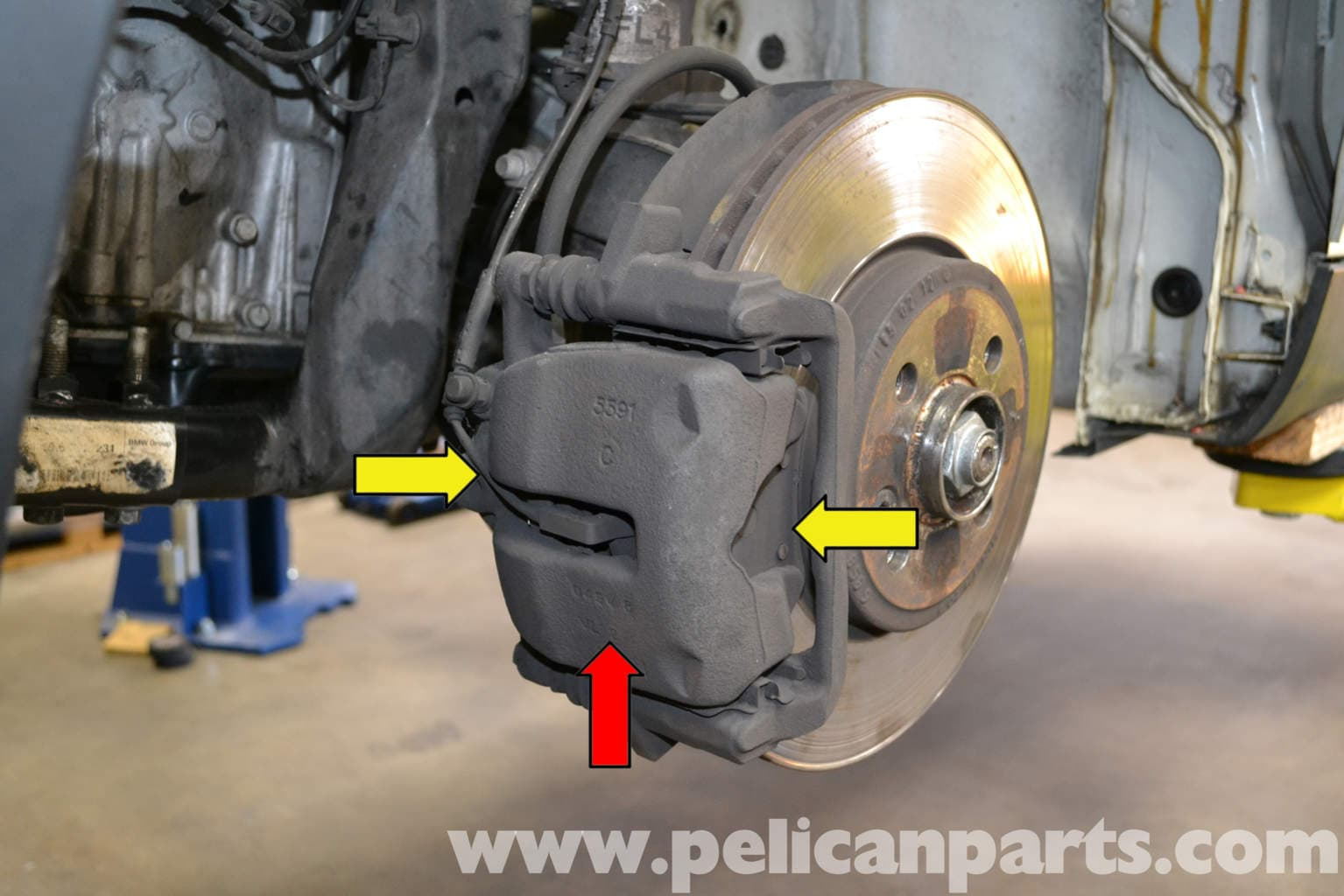 mini cooper front brake pad replacement r56 2007 2013 pelican parts diy maintenance article. Black Bedroom Furniture Sets. Home Design Ideas