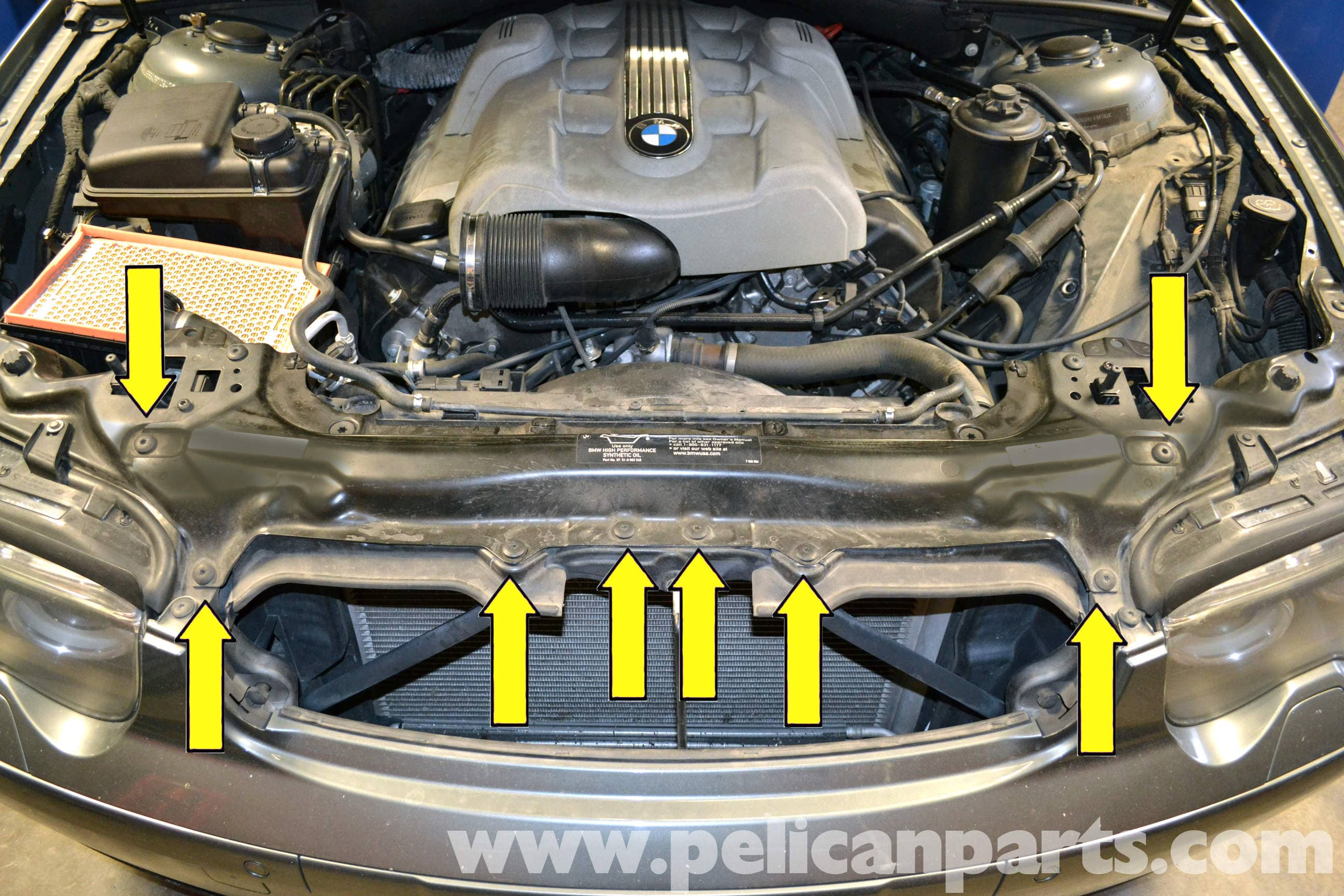 bmw the infamous alternator bracket oil leak on the e65 bmw 7 rh  pelicanparts com
