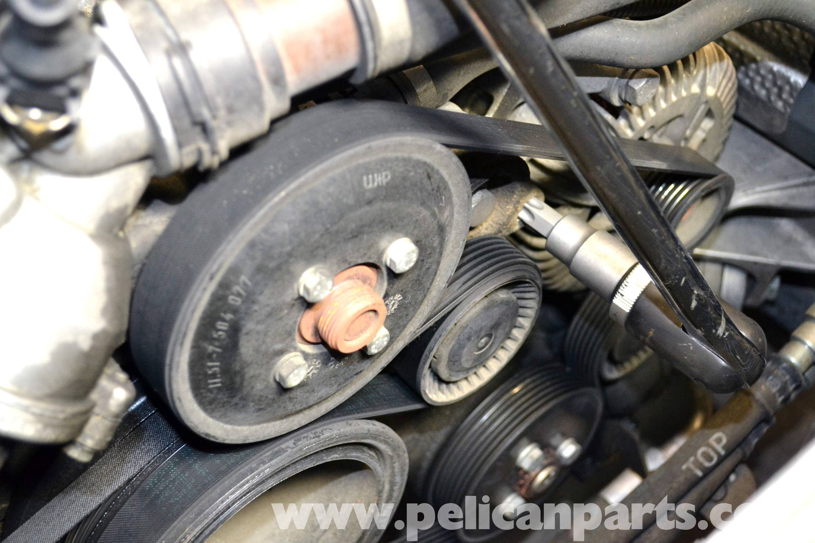 BMW - The Infamous Alternator cket Oil Leak on the E65 BMW 7 ...