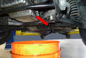 With the car safely supported on jack stands remove the 13mm drain plug from the bottom of the sump.