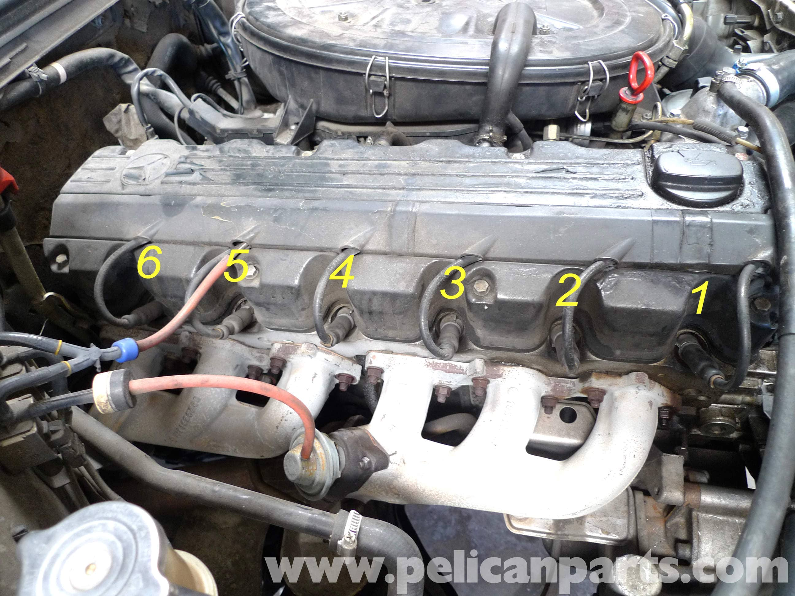 Mercedes-Benz 190E Spark Plugs, Wires, Cap and Rotors Replacement ...