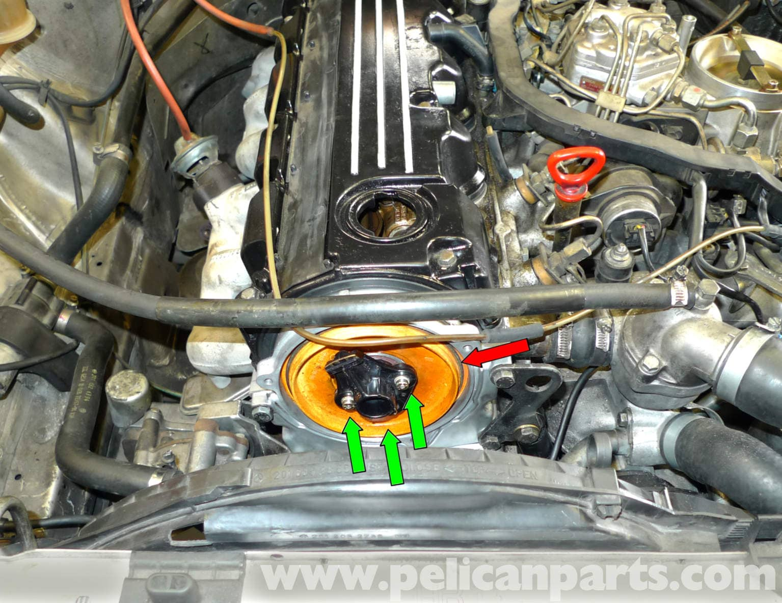 how to connect spark plug wires to a distributor cap