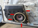 Before you can remove the vapor shield (plastic along the door) you will need to remove the door speakers.
