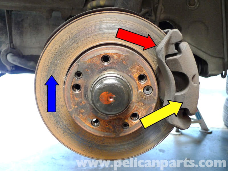 Mercedes benz 190e front brake pad replacement w201 1987 for Mercedes benz brake calipers