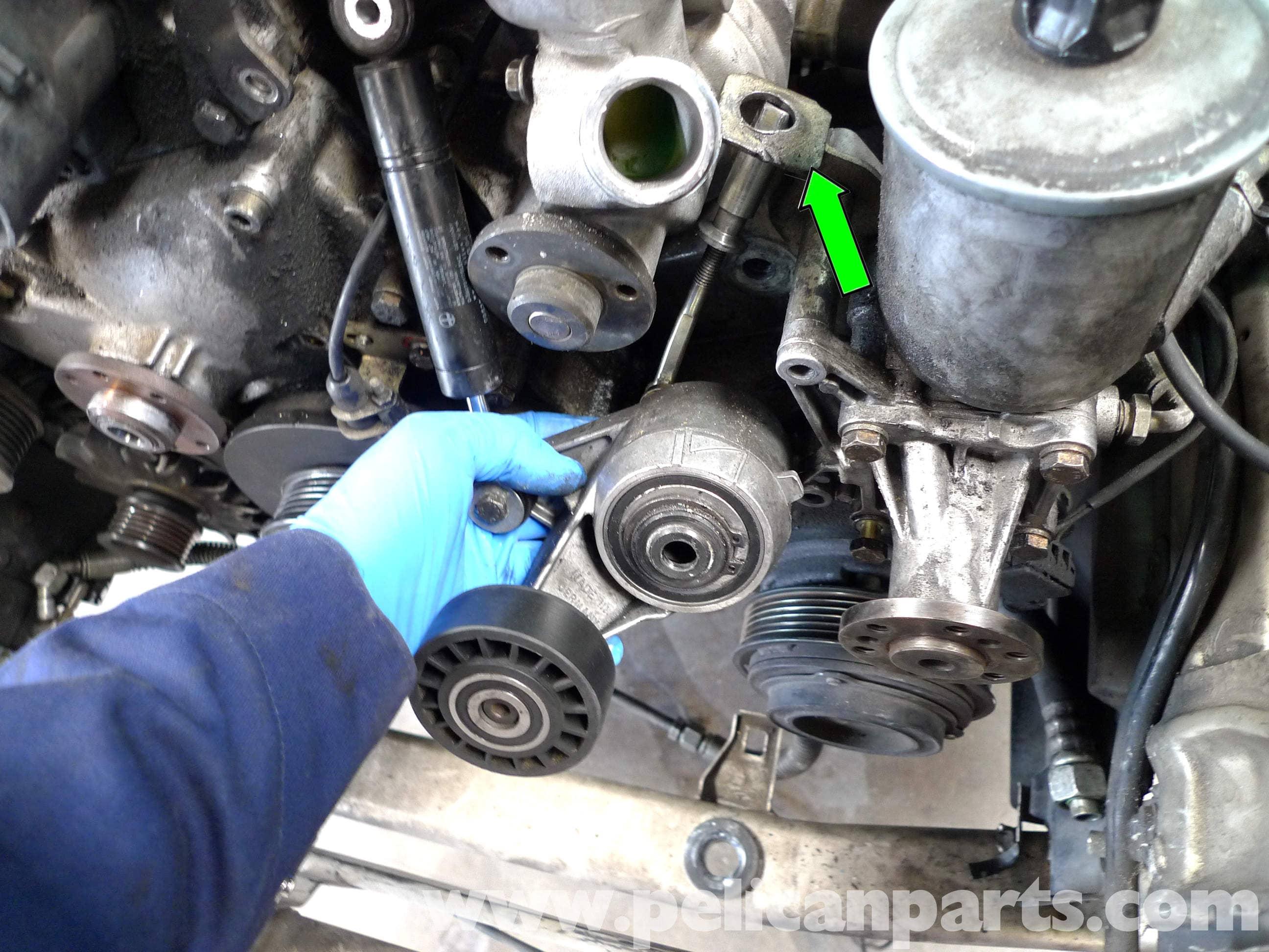 Mercedes Benz 190e Belt Tensioner Replacement W201 1987 1993 Pelican Parts Diy Maintenance Article